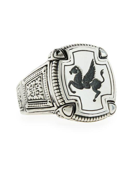 Konstantino | Metallic Men's Pegasus Square Ring for Men | Lyst