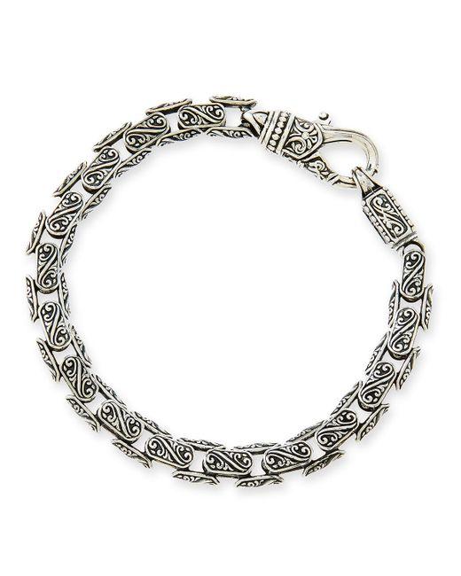 Konstantino | Metallic Men's Scroll Oval Link Bracelet for Men | Lyst