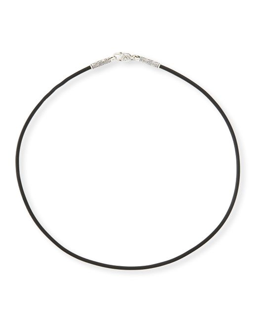 "Konstantino | Black 20"" Men's Leather Cord Necklace for Men 