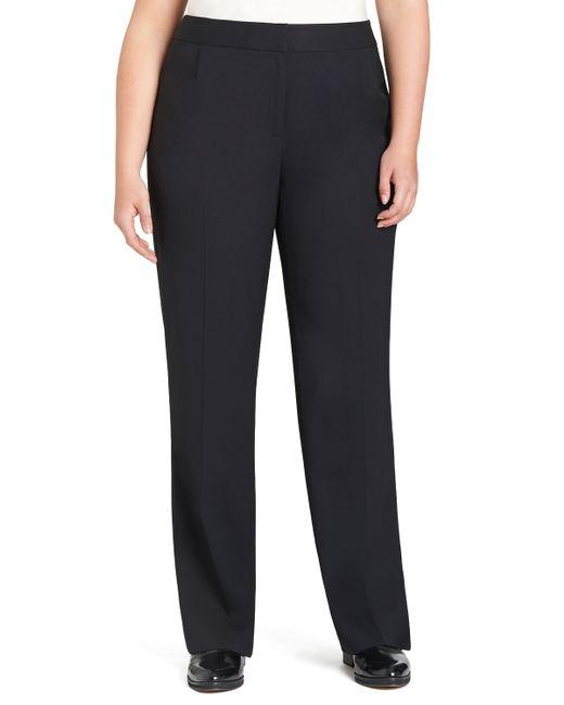 Lafayette 148 New York   Blue Menswear Straight-leg Stretch-wool Pants   Lyst