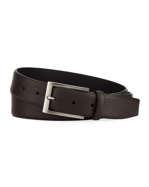 Ermenegildo Zegna - Brown Matte Reversible Belt for Men - Lyst
