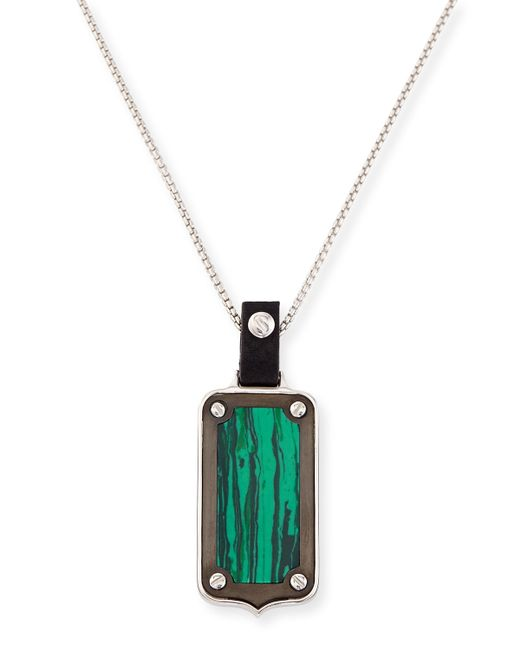 Stephen Webster | Green Sterling Silver Malachite Pendant Necklace | Lyst