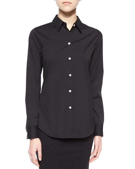 Theory | Black Tenia.luxe Blouse | Lyst