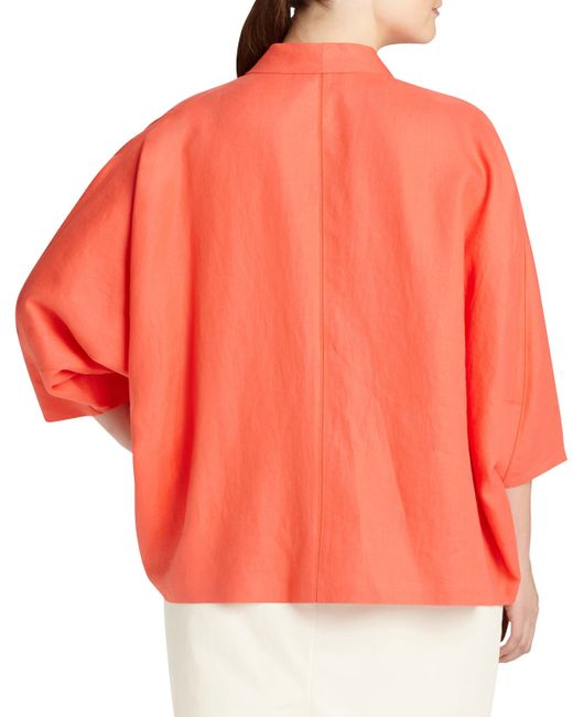 Lafayette 148 New York | Orange Margriet Open Linen Topper Jacket | Lyst