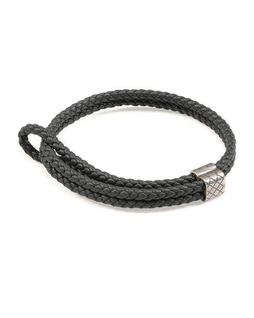 Bottega Veneta   Gray Men's Woven Leather Bracelet for Men   Lyst