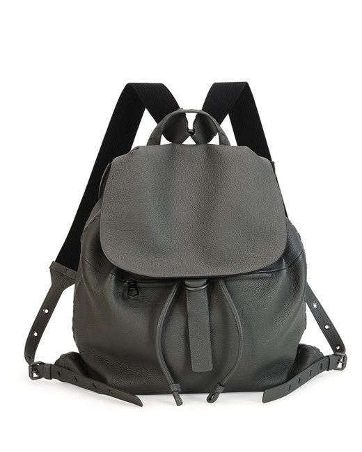 Bottega Veneta | Gray Woven Leather Backpack | Lyst