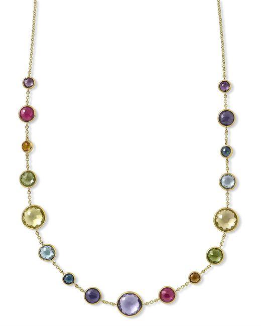 Ippolita   Metallic 18k Gold Lollitini Multi-stone Short Necklace   Lyst