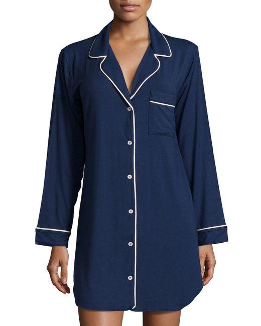 Eberjey | Blue Gisele Sleepshirt | Lyst