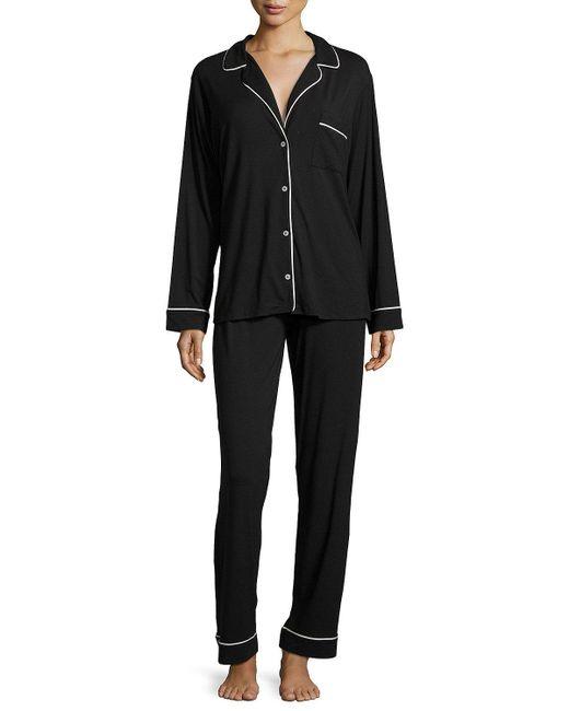 Eberjey | Black Gisele Long Pajama Set | Lyst