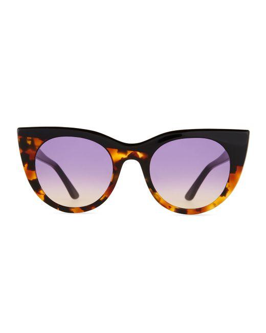 Kyme | Black Angel Flared-temple Sunglasses | Lyst