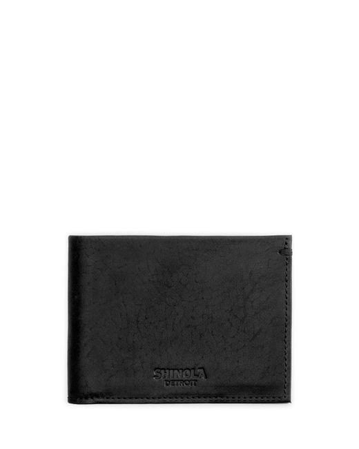 Shinola | Black Slim Leather Bifold Wallet for Men | Lyst