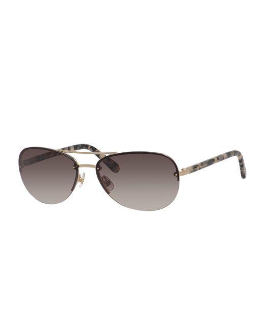 Kate Spade | Metallic Beryl Small Aviator Sunglasses | Lyst