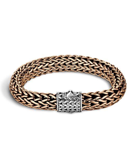 John Hardy Men S Two Tone Woven Chain Bracelet In Metallic