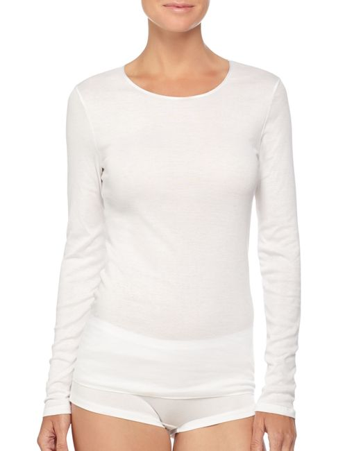 Hanro | White Soft Touch Long-sleeve Top | Lyst