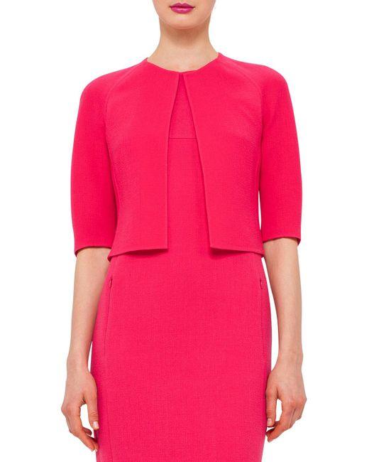 Akris | Pink Half-sleeve Open-front Bolero | Lyst