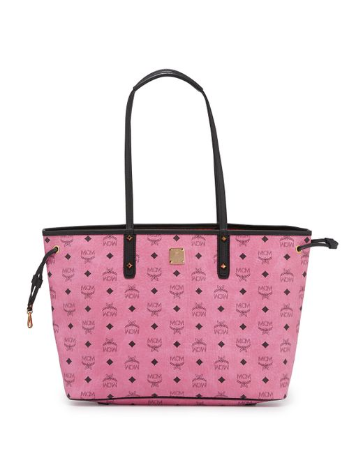 mcm shopper project visetos reversible tote bag in gray pink lyst. Black Bedroom Furniture Sets. Home Design Ideas