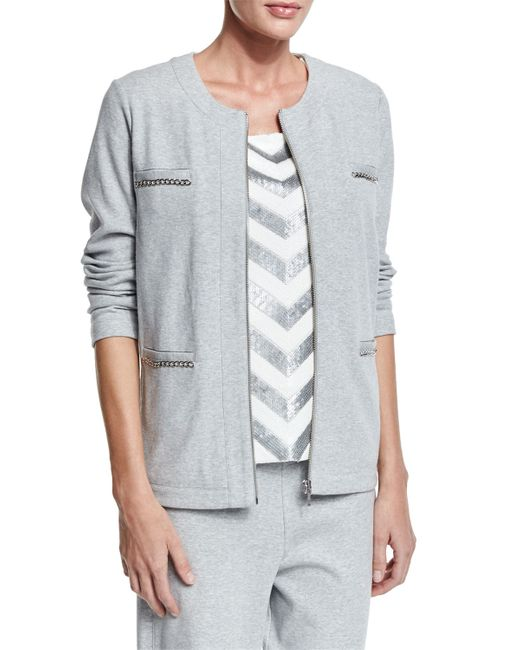 Joan Vass | Gray Four-pocket Interlock Jacket | Lyst