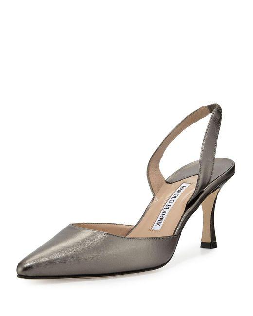 Manolo Blahnik | Multicolor Carolyne Leather Mid-heel Halter Pump | Lyst