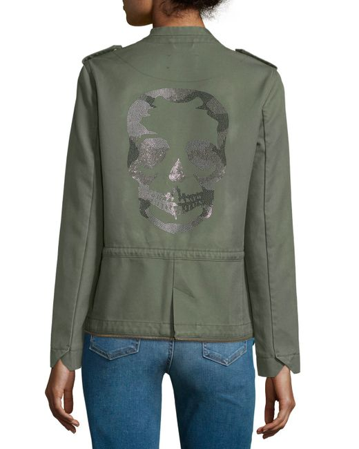 Zadig & voltaire Cotton Twill Snap-front Jacket in Natural ...