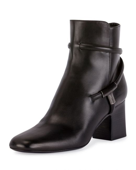 Tom Ford | Black T-bar Leather 65mm Bootie | Lyst
