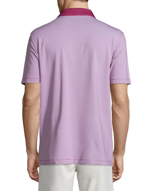 Peter millar jubilee striped short sleeve stretch jersey for Peter millar polo shirts