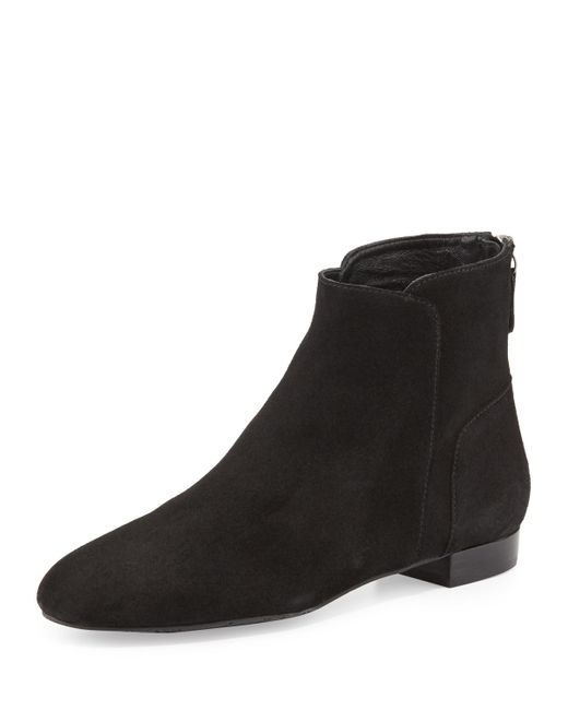 Delman | Brown Myth Suede Ankle Boot | Lyst