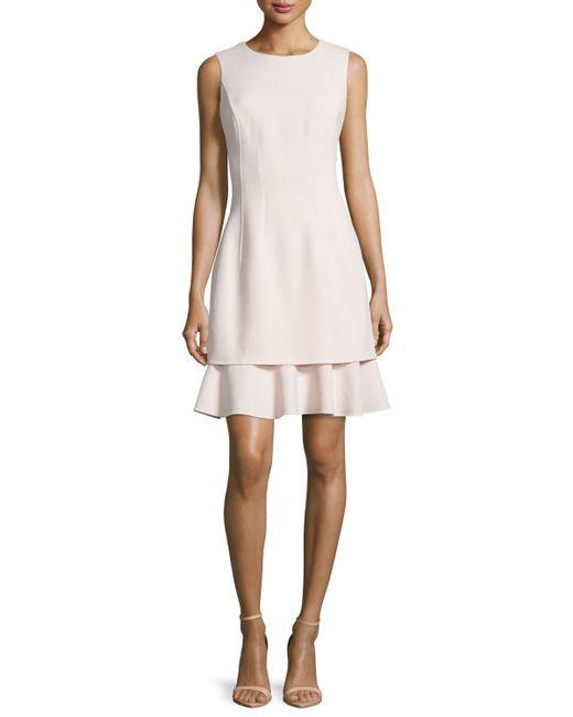 Oscar de la renta Layered-skirt Sleeveless Dress in ...