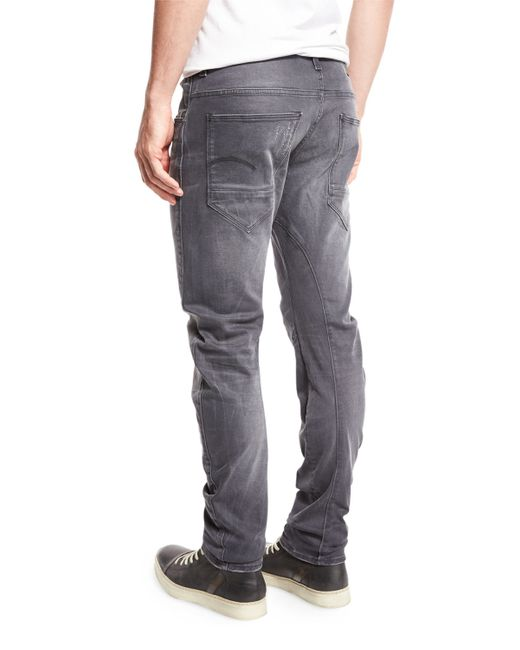 g star raw arc 3d slim jeans in gray for men lyst. Black Bedroom Furniture Sets. Home Design Ideas