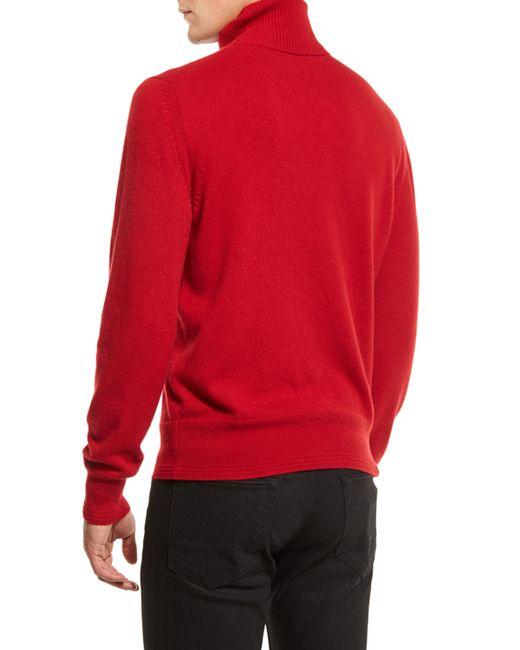 tom ford classic flat knit cashmere turtleneck sweater in. Black Bedroom Furniture Sets. Home Design Ideas