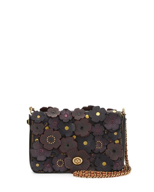 Coach Dinky Medium Floral Crossbody Bag In Black | Lyst