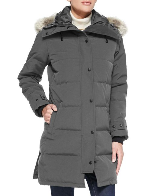 Canada Goose | Gray Shelburne Parka With Fur Hood | Lyst