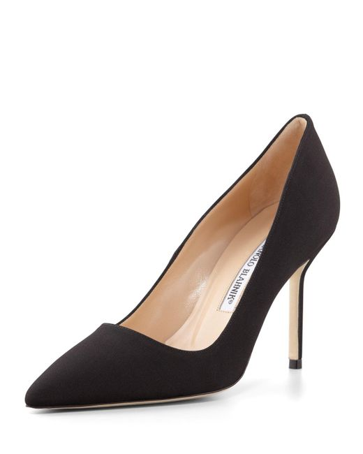 Manolo Blahnik | Black Bb Crepe 90mm Pump | Lyst