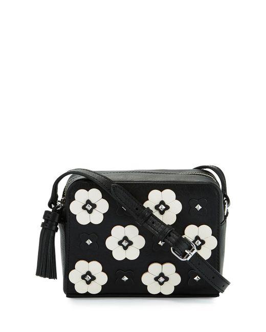 Rebecca Minkoff | Black Floral Appliqué Camera Bag | Lyst