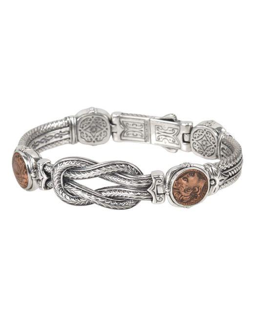 Konstantino | Metallic Men's Sterling Silver & Copper Coin Bracelet | Lyst