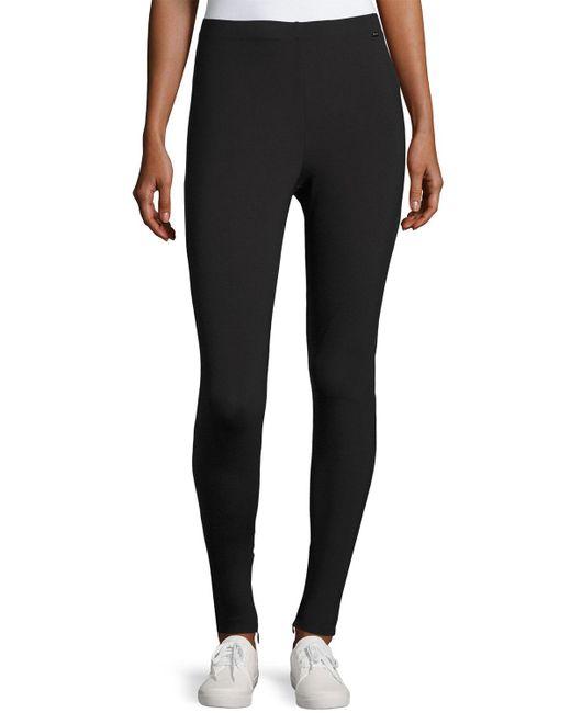 St. John | Black Sport Scuba Zip-cuff Leggings | Lyst