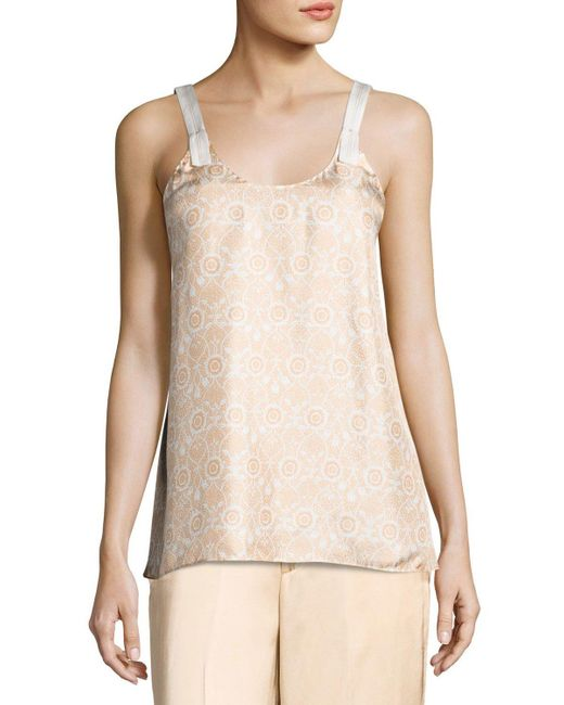Helmut Lang | Natural Vine Silk Camisole Top | Lyst