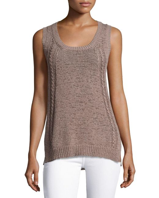 Neiman Marcus | Brown Tape-yarn Tank | Lyst