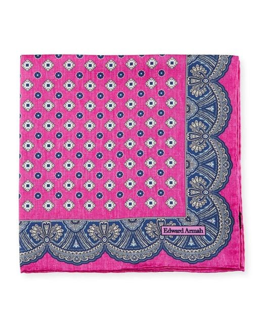 Edward Armah | Pink Medallion Pocket Square | Lyst