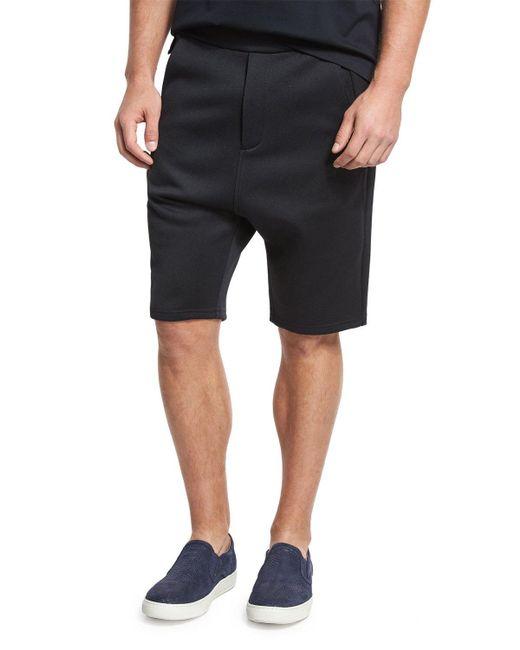 Vince | Black Drop-rise Shorts for Men | Lyst