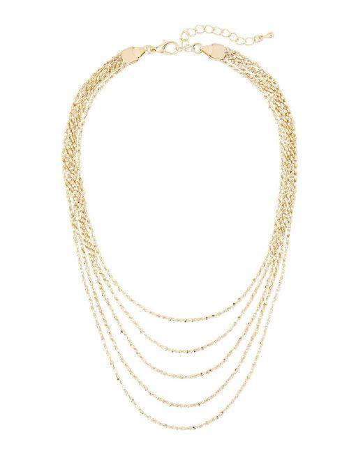 Panacea   Metallic Golden Layered Choker Necklace   Lyst
