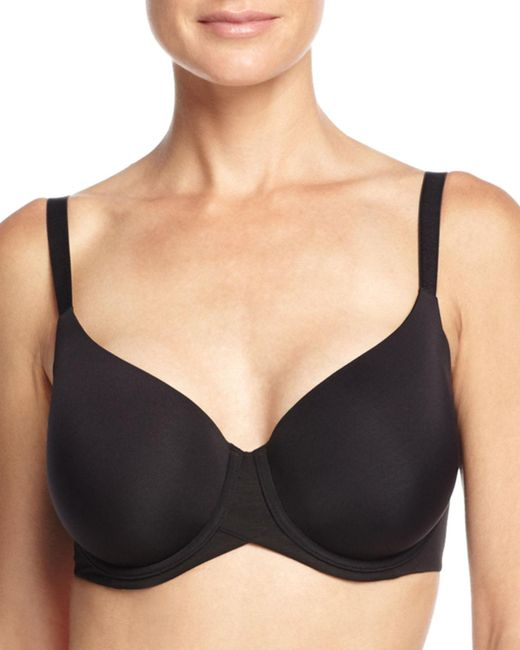 Wacoal | Black Ultra Side Smoother Contour Underwire Bra | Lyst
