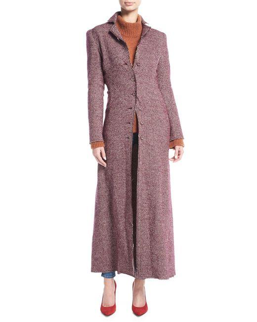 Brock Collection - Purple Carolyn Tweed Duster Coat - Lyst