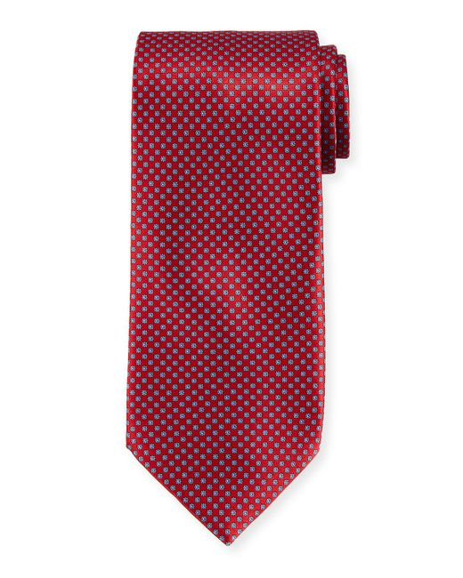 Stefano Ricci - Red Neat Pattern Silk Tie for Men - Lyst