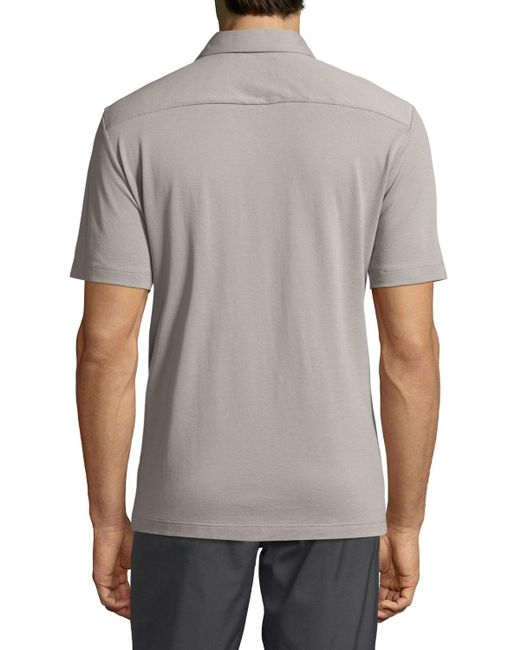Theory | Gray Air Pique Short-sleeve Shirt for Men | Lyst