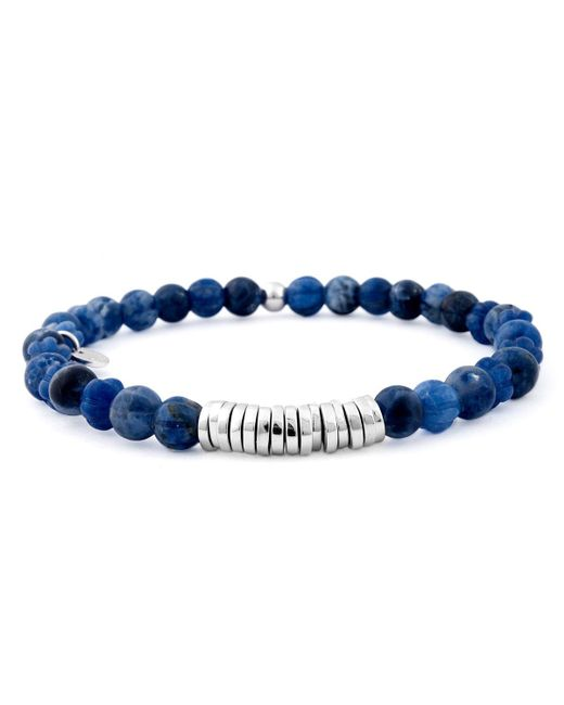 Tateossian | Blue Sodalite Beaded Bracelet for Men | Lyst