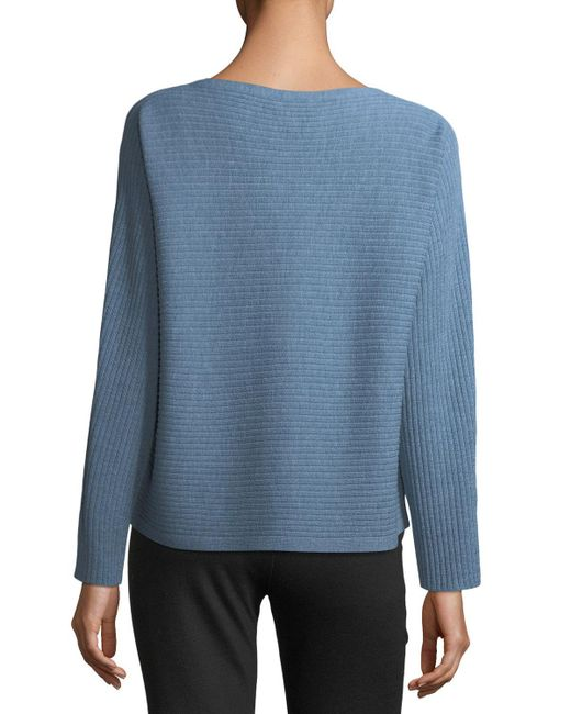 Eileen Fisher | Blue Washable Wool Box Top | Lyst