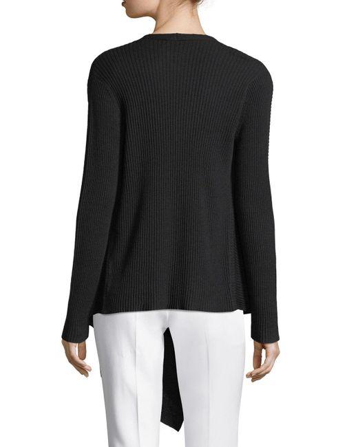 Eileen Fisher   Black Washable Wool Wrap Cardigan   Lyst