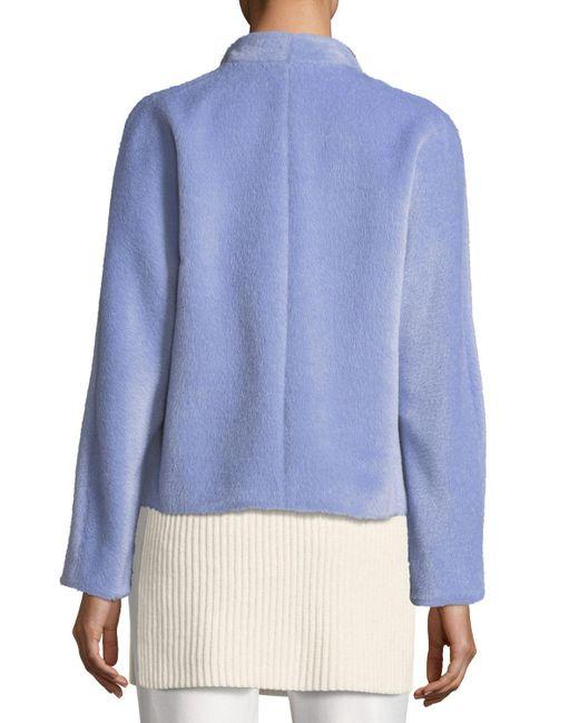 ESCADA | Purple Alpaca-wool Open-front Jacket | Lyst