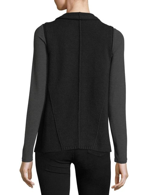 Neiman Marcus | Black Exposed-seam Cashmere Vest | Lyst