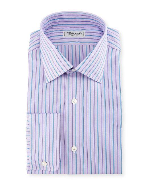 Charvet | Blue Alt-striped Dress Shirt for Men | Lyst